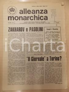 1975 ALLEANZA MONARCHICA Zakharov e PASOLINI Due mondi diversi *Rivista