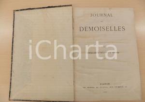 1891 JOURNAL DES DEMOISELLES Annata completa rilegata in volume DANNEGGIATO