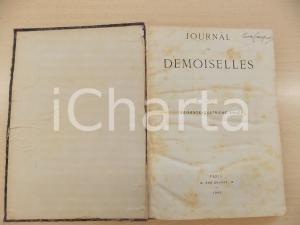 1896 JOURNAL DES DEMOISELLES Annata completa rilegata in volume DANNEGGIATO