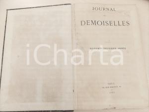 1895 JOURNAL DES DEMOISELLES Annata completa rilegata in volume