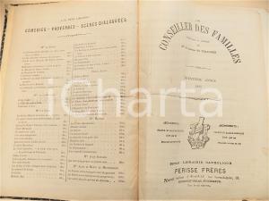 1886 Comtesse de TRAVANET CONSEILLER DES FAMILLES Annata completa