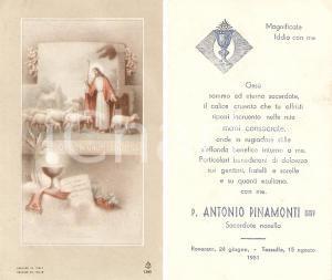 1951 ROVERETO (TN) Padre Antonio PINAMONTI consacrato sacerdote *Santino
