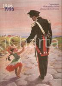 1996 ARMA CARABINIERI Calendario Cinquantenario REPUBBLICA Ill. Gianluigi MATTIA