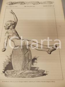 1884 TORINO E L'ESPOSIZIONE ITALIANA n° 24 Saltimbaco  Giuseppe GASBARRA Rivista