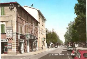 1967 CASTROCARO TERME (FC) Via Roma Mostra pittura Alieto RAGAZZINI Cartolina FG
