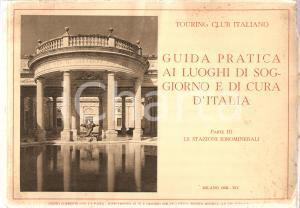 1936 TOURING CLUB ITALIANO Guida luoghi soggiorno Stazioni Idrominerali Vol. 3°