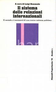 1976 Luigi BONANATE Sistema relazioni internazionali scienza politica EINAUDI