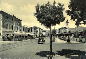 1955 MARINA DI CARRARA (MS) Veduta di PIAZZA XX SETTEMBRE *Cartolina animata VG