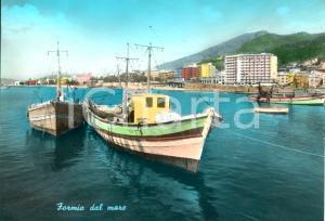 1966 FORMIA (LT) Veduta della città dal mare *Cartolina ANIMATA FG VG