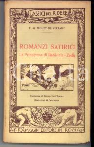 1928 VOLTAIRE Romanzi Satirici La Principessa Di Babilonia - Zadig *FORMIGGINI
