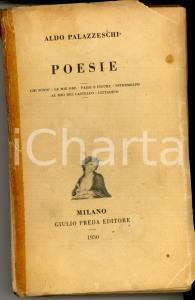 1930 Aldo PALAZZESCHI Poesie *DANNEGGIATO Prima edizione Giulio PREDA