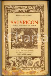 1928 Petronio Arbitro SATYRICON *Ed. FORMIGGINI Classici del ridere