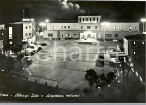 1960 FANO (PU) Veduta Albergo Lido e Argentina*Cartolina animata da auto FG VG