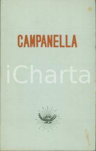 1951 Aldo TESTA I Filosofi CAMPANELLA Edizioni GARZANTI