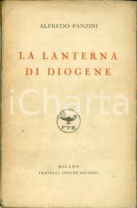 1927 Alfredo PANZINI La lanterna di Diogene 15° migliaio Ediz. FRATELLI TREVES