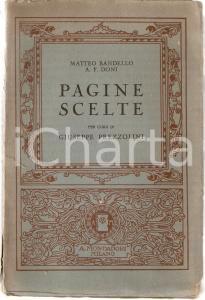 1926 Matteo BANDELLO Anton Francesco DONI Pagine scelte da Giuseppe PREZZOLINI
