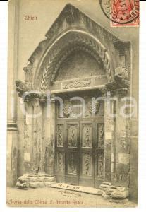 1911 CHIETI Porta della Chiesa di S. ANTONIO ABATE *Cartolina postale FP VG