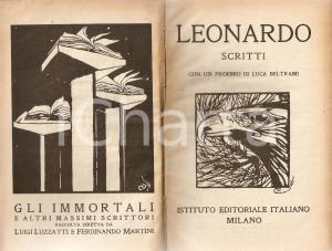 1920 Leonardo DA VINCI Scritti Con proemio di Luca BELTRAMI *Ist. Ed. Italiano
