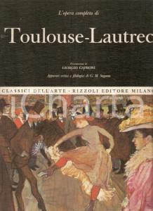 1969 G.M. SUGANA Opera completa TOULOUSE-LAUTREC Prefazione Giorgio CAPRONI