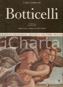 1967 Gabriele MANDEL Opera completa del BOTTICELLI Prefazione Carlo BO *Rizzoli