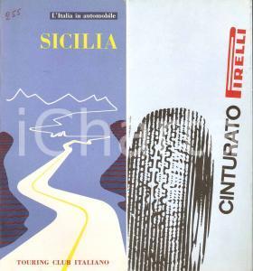 1963 TOURING CLUB Italia in automobile SICILIA Pneumatico cinturato PIRELLI