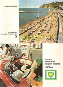 1965 TOURING CLUB ITALIANO Guida luoghi soggiorno 2 ADRIATICO IONIO Benzina BP