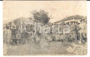 1915 WW1 MANZIANA (RM) Battaglione di fanteria in posa con tendone *Foto FP NV
