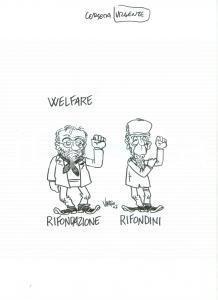 2007 DISEGNO originale VAURO Senesi Welfare tra Rifondazione e Lamberto DINI