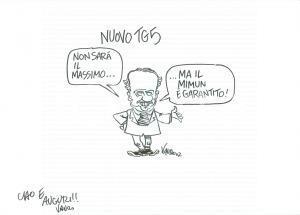 2007 DISEGNO originale VAURO Senesi Clemente MIMUN di nuovo al Tg5 *AUTOGRAFO