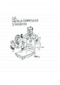 2007 DISEGNO originale VAURO Senesi G8 Salta Commissione su tomba Carlo GIULIANI