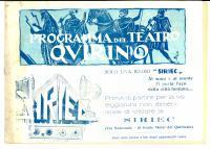 1927 ROMA TEATRO QUIRINO Raffaele VIVIANI Quanno Napule era Napule *Programma