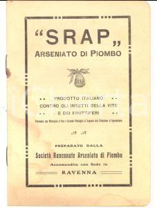 1920 ca RAVENNA SRAP Arseniato di piomnbo *Libretto pubblicitario