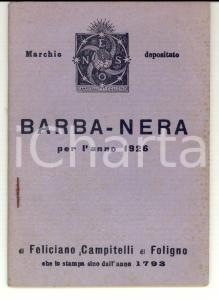 1926 FOLIGNO Lunario BARBANERA *Ed. Feliciano CAMPITELLI