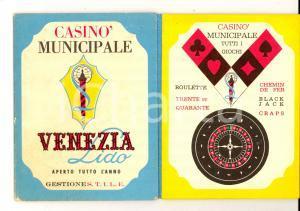 1964 VENEZIA LIDO Opuscolo pubblicitario del CASINO' MUNICIPALE
