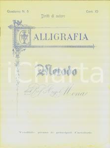 1920 ca NAPOLI Quaderno CALLIGRAFIA Metodo del prof. Angelo MONA *non compilato