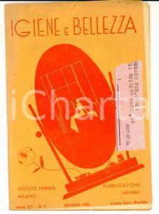 1935 MILANO Istituto HERMES Igiene e bellezza *Rivista Anno XV n° 6