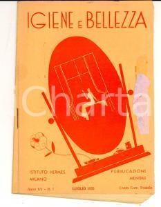 1935 MILANO Istituto HERMES Igiene e bellezza *Rivista Anno XV n° 7