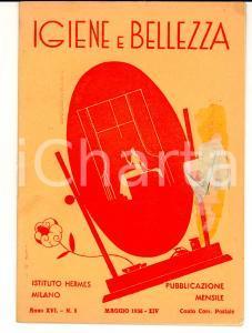 1936 MILANO Istituto HERMES Igiene e bellezza *Rivista Anno XVI n° 5