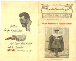 1925 TORINO Memento dermatologico - Scuole anatomiche del 1600 *Rivista