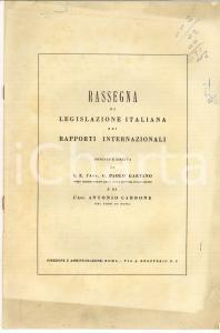 1960 Rassegna di legislazione italiana nei rapporti internazionali *Rivista n° 4