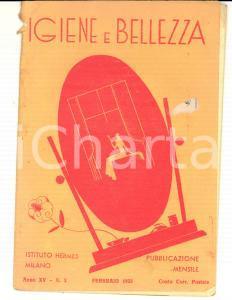 1935 MILANO Istituto HERMES Igiene e bellezza *Rivista Anno XV n° 2