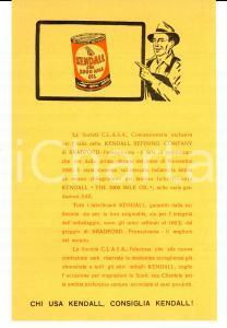 1950 ca Lubrificanti KENDALL Società C.L.A.S.A. *Volantino pubblicitario