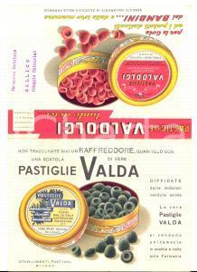 1959 MILANO Stabilimenti PASTIVAL Pastiglie VALDA raffreddore *Pubblicitario