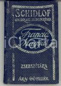 1910 ca BUDAPEST Rodolphe HONTI Dictionnaire français-hongrois TASCABILE