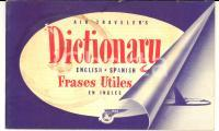 1940 ca PAN AM AIRWAYS Dictionary english-spanish for travellers *TASCABILE