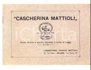 1920 ca MILANO Laboratorio chimico MATTIOLI - Cascherina contro emorroidi