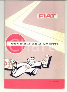 1966 TORINO FIAT Consigli agli utenti *Libretto pubblicitario ILLUSTRATO