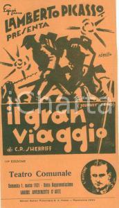 1931 MILANO TEATRO COMUNALE Lamberto PICASSO presenta IL GRAN VIAGGIO *Opuscolo