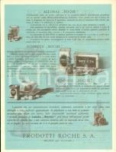1930 ca MILANO Farmaci prodotti Ditta ROCHE S.A. *Opuscolo velina ILLUSTRATO