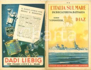 1939 LIEBIG Italia sul mare Serie i Condottieri DIAZ *Opuscolo ILLUSTRATO
